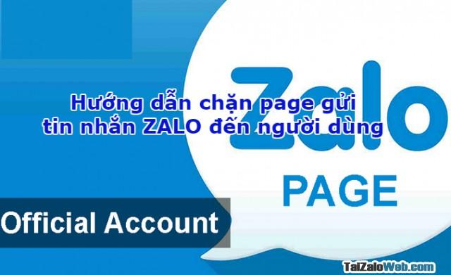 Hướng dẫn chặn page gửi tin nhắn ZALO đến người dùng + Hình 1